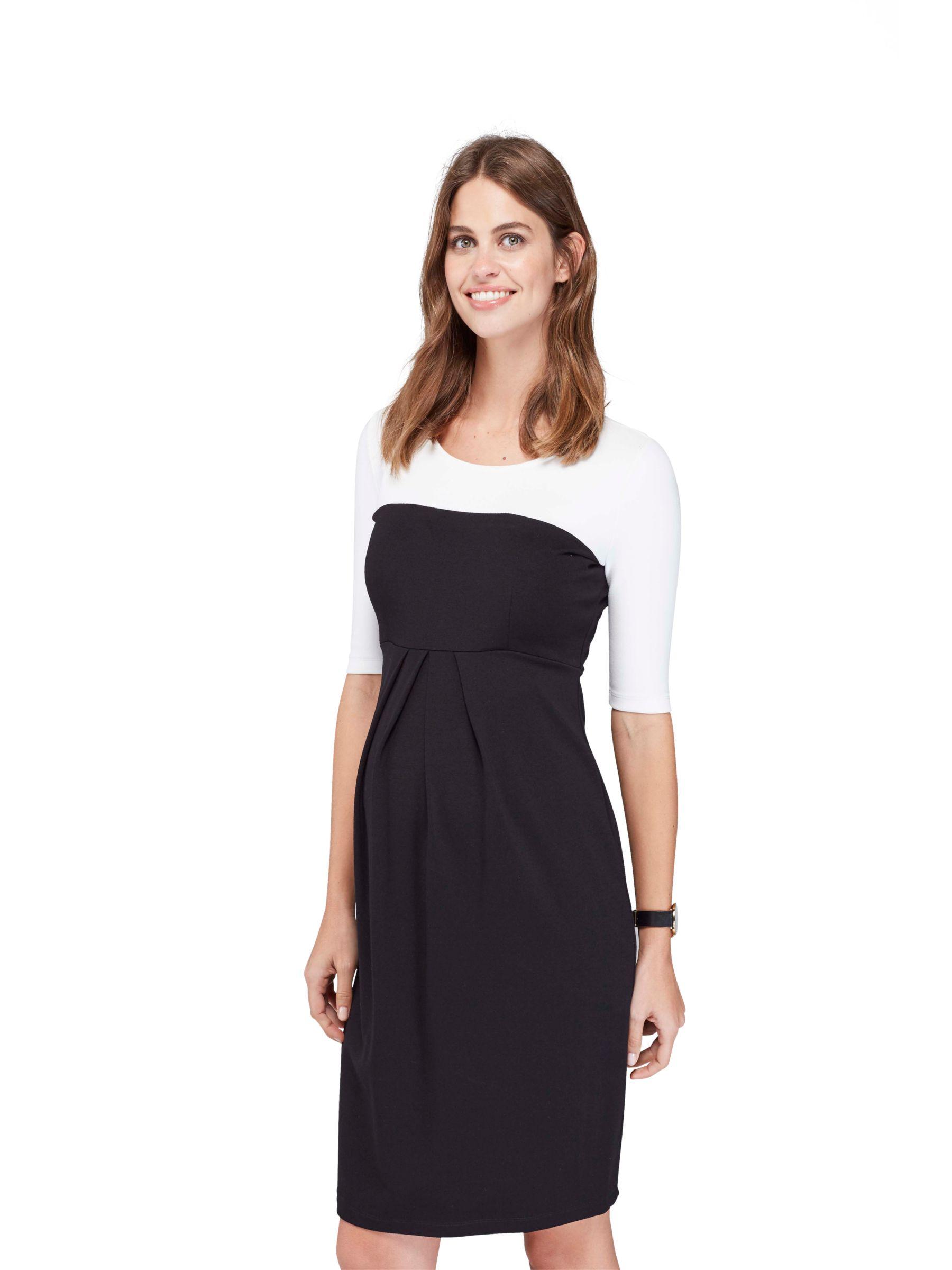Isabella Oliver Isabella Oliver Laela Contrast Maternity Dress, Black/White
