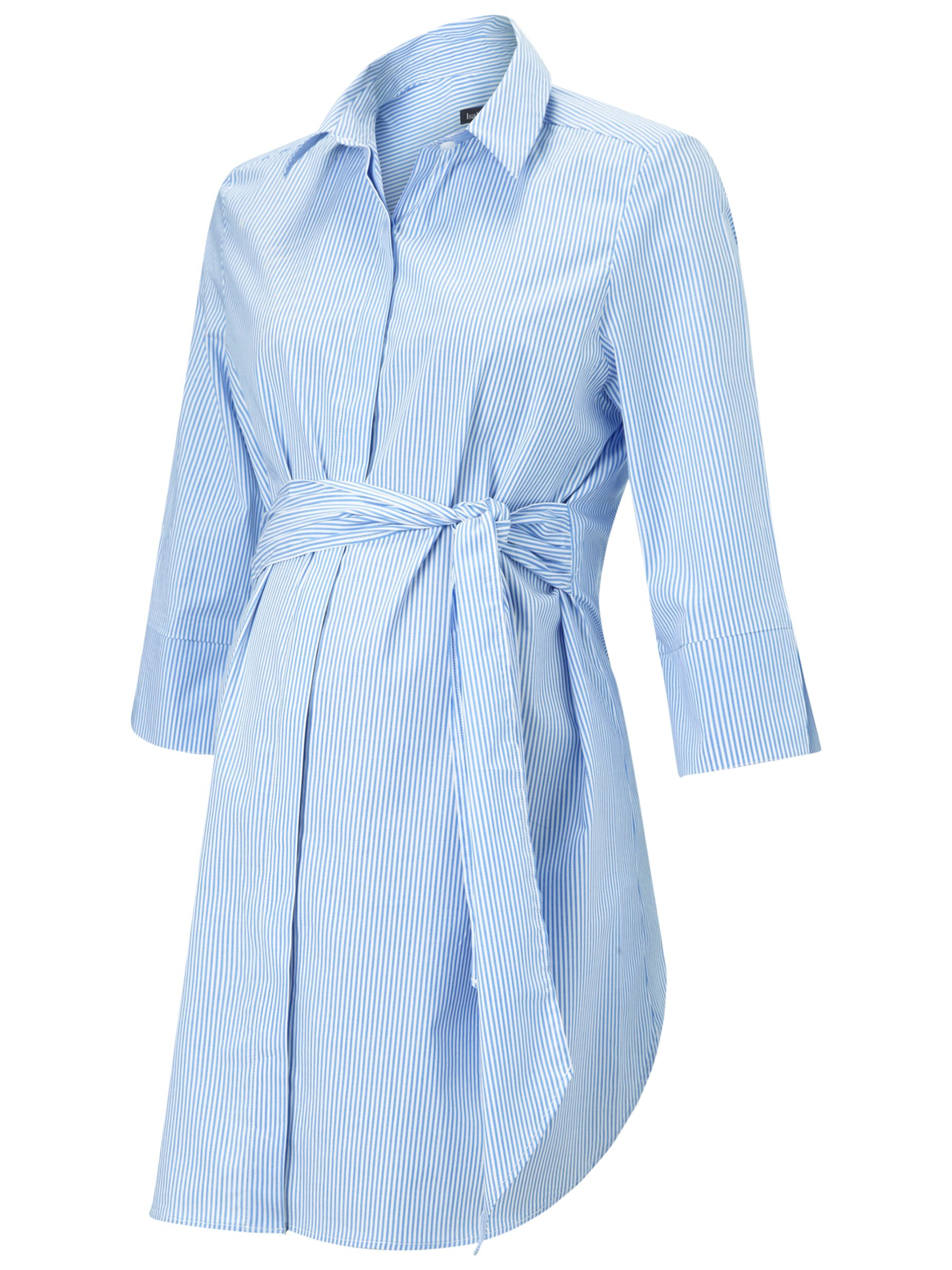 Isabella Oliver Isabella Oliver Dora Striped Maternity Shirt, Blue/White