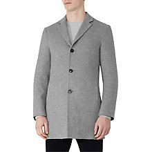 Buy Reiss Zen Wool Mix Overcoat, Soft Grey Online at johnlewis.com