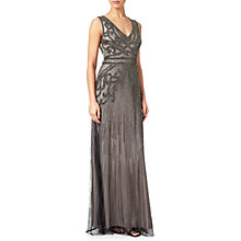 Buy Adrianna Papell Fully Beaded Sleeveless Gown, Platinum Online at johnlewis.com
