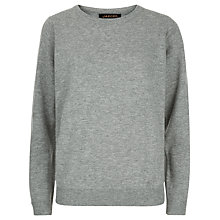 Buy Jaeger Wool And Cashmere Jumper, Grey Melange Online at johnlewis.com