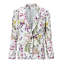 Buy Miss Selfridge Lark Print Jacket, Multi Online at johnlewis.com