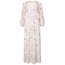 Buy Miss Selfridge Lace Yoke Floral Maxi Dress, Multi Online at johnlewis.com