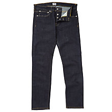 Buy Edwin ED-80 Red Listed Selvage Denim Slim Tapered Jeans, Blue Online at johnlewis.com