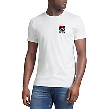 Buy Edwin Peak Cotton T-Shirt, White Online at johnlewis.com