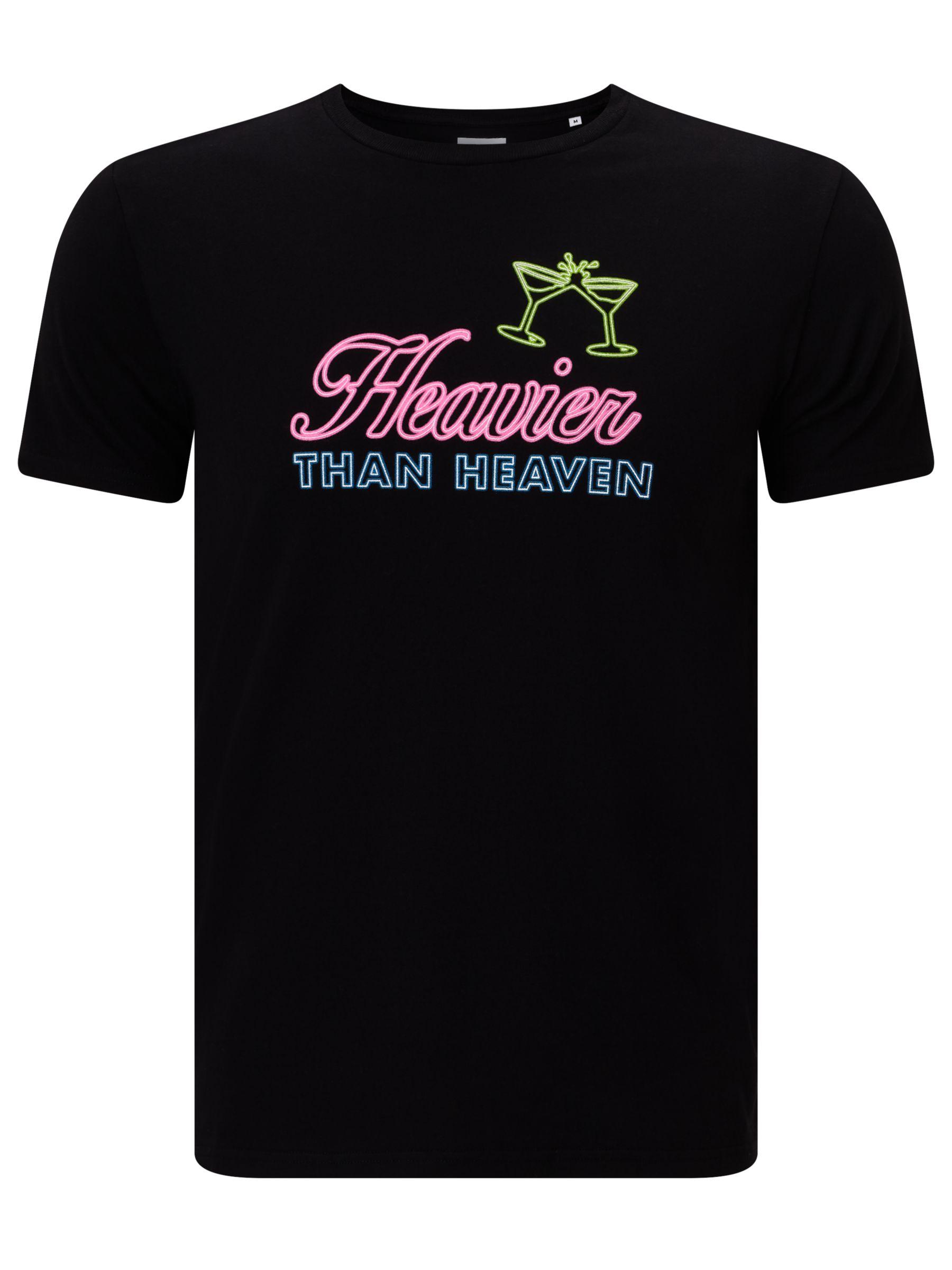 Edwin Edwin Heavier Than Heaven Neon T-Shirt, Black