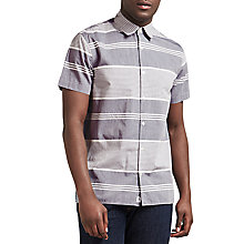 Buy Edwin Nimes Short Sleeve Shirt, Blue Online at johnlewis.com