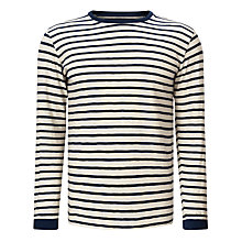 Buy Edwin Tokyo Blues Long Sleeve Stripe T-Shirt, Off White/Navy Online at johnlewis.com