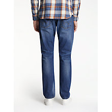 Buy Edwin ED-55 Relaxed Tapered Jeans, Deep Blue Denim Grime Dirt Wash Online at johnlewis.com