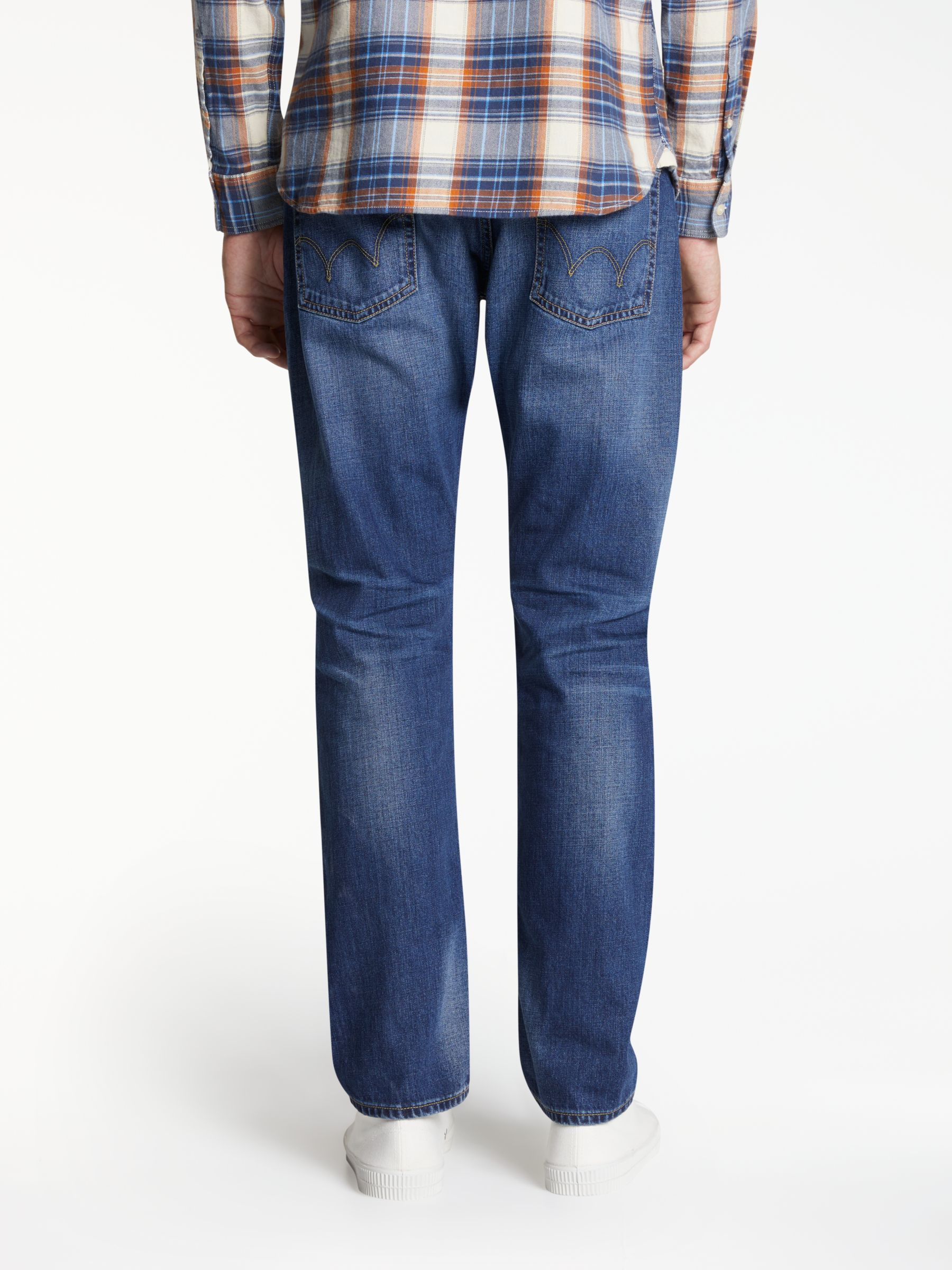 Edwin Edwin ED-55 Relaxed Tapered Jeans, Deep Blue Denim Grime Dirt Wash