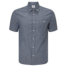Buy Edwin Labour Short Sleeve Shirt, Blue Online at johnlewis.com