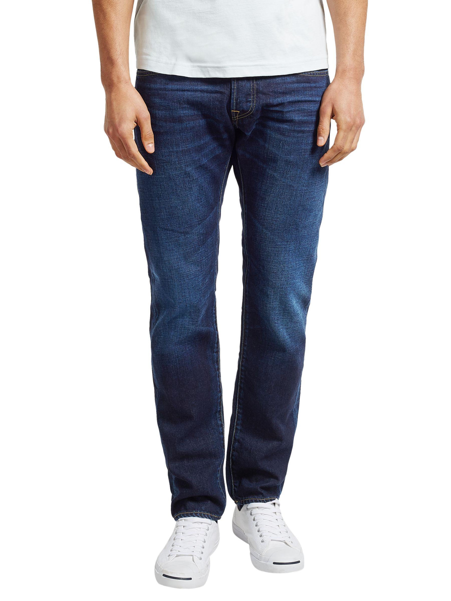Edwin Edwin ED-55 Relaxed Tapered Jeans, Deep Blue Denim Coal Wash