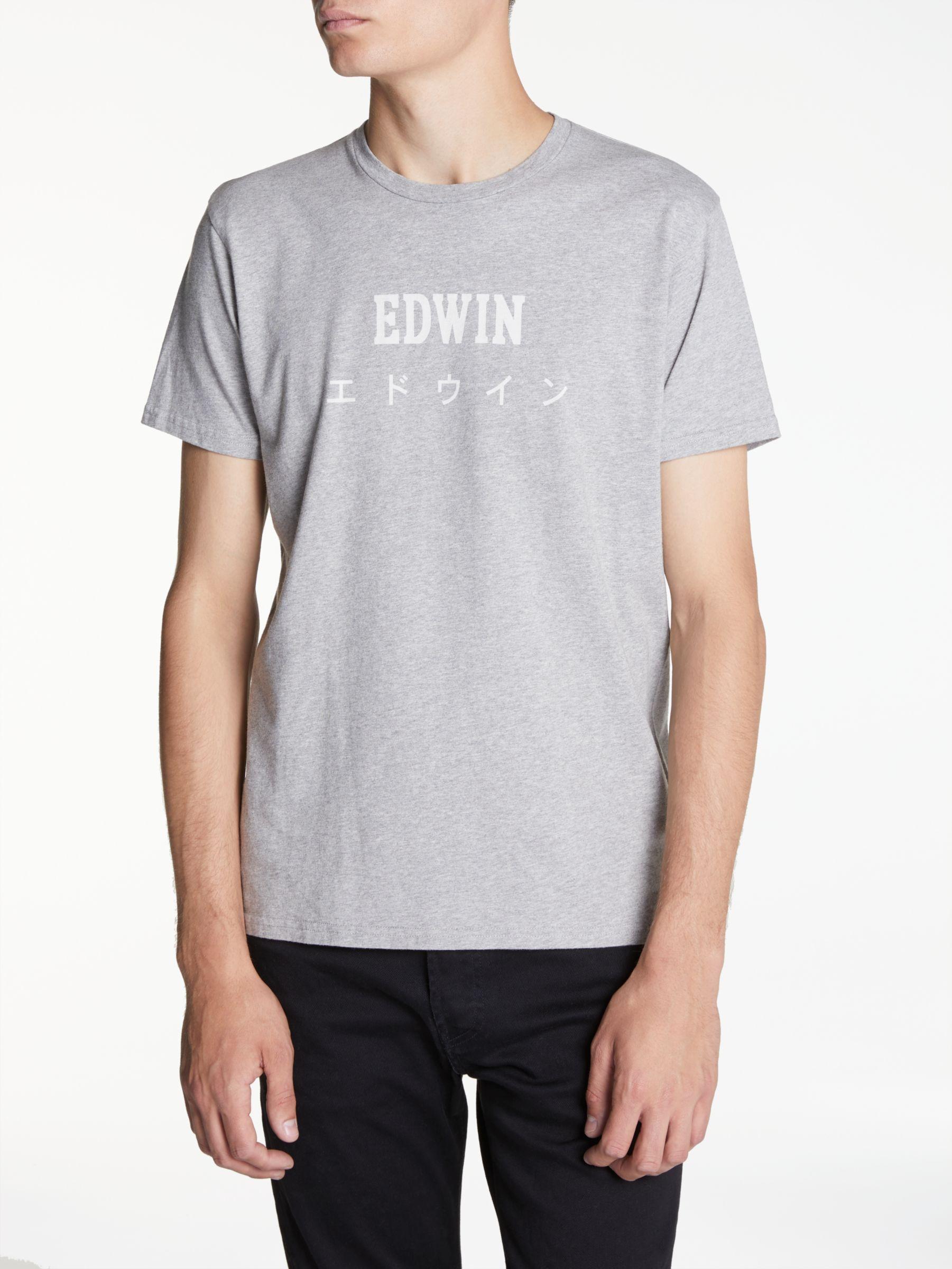 Edwin Edwin Japanese T-Shirt, Grey Marl