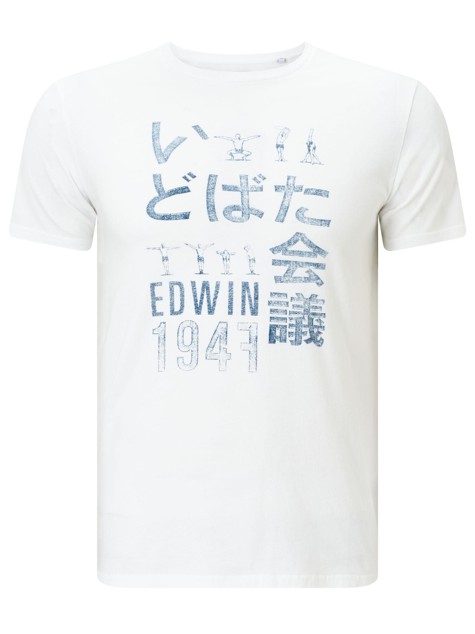 Edwin Edwin Japanese Gym T-Shirt, White