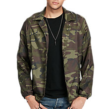 Buy Denim & Supply Ralph Lauren Camo Windbreaker Jacket, Black Multi Online at johnlewis.com