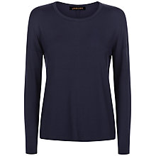 Buy Jaeger Jersey Long-Sleeved T-Shirt, Navy Online at johnlewis.com