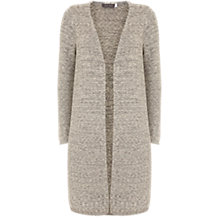 Buy Mint Velvet Longline Cardigan, Grey Online at johnlewis.com
