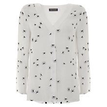 Buy Mint Velvet Veola Print Button Back Blouse, Multi Online at johnlewis.com