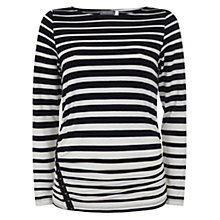 Buy Mint Velvet Graduated T-Shirt, Stripe Online at johnlewis.com