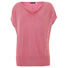 Buy Mint Velvet Asymmetric Button Detail Linen T-Shirt Online at johnlewis.com