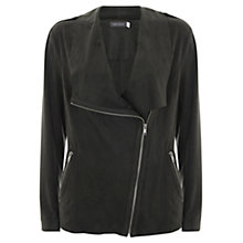 Buy Mint Velvet Faux Suede Organic Biker Jacket Online at johnlewis.com