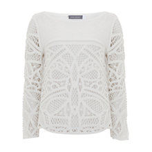 Buy Mint Velvet Macrame Front Knit, Ivory Online at johnlewis.com