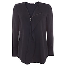 Buy Mint Velvet Ruffle Zip Front Blouse Online at johnlewis.com