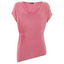 Buy Mint Velvet Asymmetric Ruched Linen T-Shirt Online at johnlewis.com