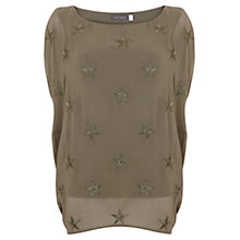 Buy Mint Velvet Lichen Star Print Cocoon T-Shirt, Green Online at johnlewis.com