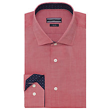 Buy Tommy Hilfiger Heathered Slim Fit Shirt, Pink Online at johnlewis.com