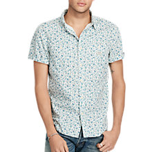 Buy Denim & Supply Ralph Lauren Work 2 Pocket Short Sleeve Regular Shirt, White Floral Online at johnlewis.com