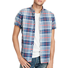 Buy Denim & Supply Ralph Lauren Short Sleeve Pocket Shirt, Blue Red Plaid Online at johnlewis.com