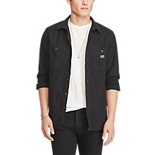 Buy Denim & Supply Ralph Lauren Work 2 Pocket Regular Shirt, Black Online at johnlewis.com
