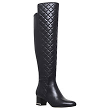 Buy MICHAEL Michael Kors Sabrina Quilted Over the Knee Boots, Black Online at johnlewis.com
