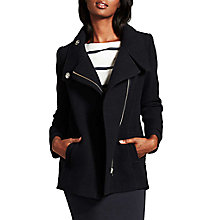 Buy Mint Velvet Wool Blend Pea Coat, Blue Online at johnlewis.com