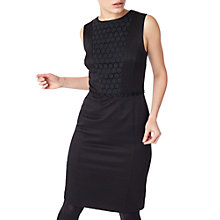 Buy Precis Petite Marlisa Textured Broidery Dress, Black Online at johnlewis.com