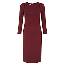 Buy Hobbs Rochelle Dress, Burgundy Online at johnlewis.com