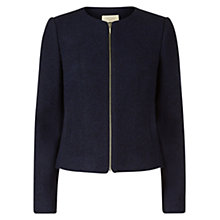 Buy Hobbs Sophie Bomber Jacket, Navy Online at johnlewis.com