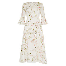Buy Hobbs Agatha Dress, Ivory/Multi Online at johnlewis.com