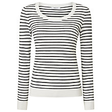 Buy Precis Petite Alexa Stripe Pointelle Jumper, Multi/Black Online at johnlewis.com