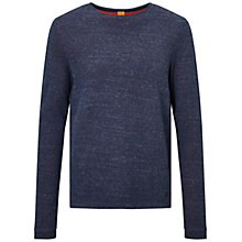 Buy BOSS Orange Wanna Crew Jumper, Dark Blue Online at johnlewis.com