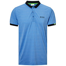 Buy BOSS Green Pro Golf 'Paddy MK 1' Stretch Cotton Polo Shirt, Medium Blue Online at johnlewis.com
