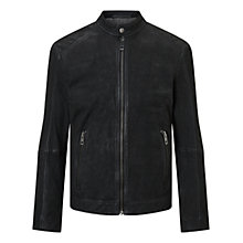 Buy HUGO BOSS Jonate Slim Fit Biker Jacket, Black Online at johnlewis.com