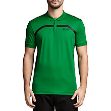Buy BOSS Green Pro Golf Paule Pro 1 Stripe Polo Shirt, Open Green Online at johnlewis.com