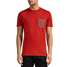 Buy Pretty Green Rindle Pocket T-Shirt, Red Online at johnlewis.com