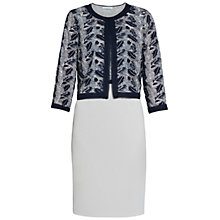 Buy Gina Bacconi Crepe And Sequin Mesh Dress And Jacket, Navy/Silver Online at johnlewis.com