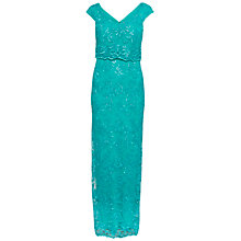 Buy Gina Bacconi Embroidered Corded Mesh Maxi Dress Online at johnlewis.com