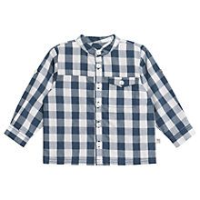 Buy Wheat Baby Axel Checked Long Sleeve Shirt, Indigo Online at johnlewis.com