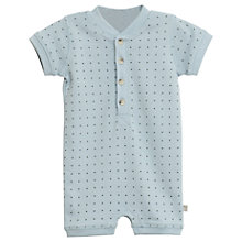 Buy Wheat Baby Placket Spotted Romper, Sky blue Online at johnlewis.com
