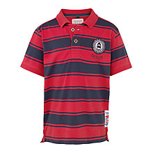 Buy Fat Face Boys' Short Sleeve Southsea Polo Shirt, Red Online at johnlewis.com